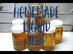 Homemade liquid soap is a great soaping project for the beginner soap maker. Add your favorite scents and oils for a truly custom soap! Soap Making Kits, Soap Making Supplies, Peppermint Soap, Coconut Oil Soap, Homemade Essential Oils, Oatmeal Soap, Soap Maker, Liquid Hand Soap, Homemade Soap Recipes