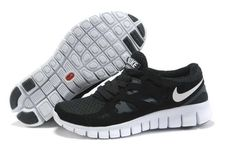 Officiel Nike Free Run 2 Homme Noir Blanc