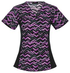 """Cherokee Flexibles V-Neck Knit Panel Top in """"Got The Point"""" from Cherokee Scrubs at Cherokee 4 Less Cherokee Scrubs, Medical Scrubs, Scrub Tops, V Neck, Slim, Knitting, Shopping, Collection, Tricot"""