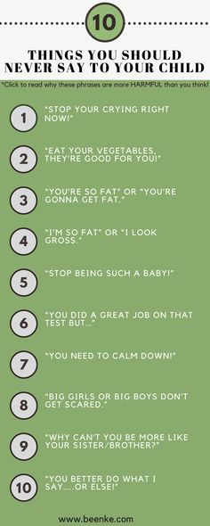Ten Things You Should Never Say To Your Child - Beenke