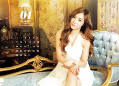 Tiffany SNSD official 2013 calendar   scan by Deselim