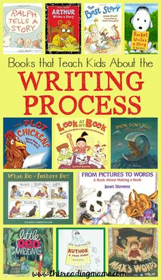 Books that Teach Kids About the Writing Process - a book list from This Reading Mama Writing Mentor Texts, Narrative Writing, Writing Lessons, Writing Process, Writing Strategies, Library Lessons, Library Ideas, Kindergarten Writing, Kids Writing