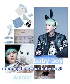 """- ✿❀ I'm Your Good BabyBoy Mommy!  // Suga ❀✿ -"" by sugaslittlepanda ❤ liked on Polyvore featuring So It Goes, Ganni, Brooks Brothers, American Apparel, men's fashion and menswear"