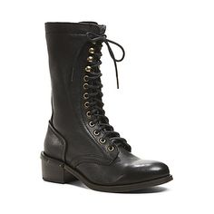 CAYNINE BLACK LEATHER women's boot mid casual - Steve Madden - I think I have a boot problem, where is the fall weather NYC!! Lets Get with the Program !!
