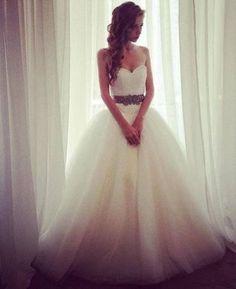 Baby doll wedding dress look, exquisite
