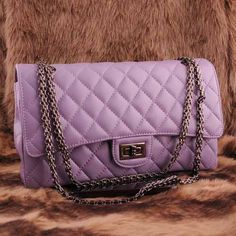 Womens fashion purple leather clutch evening bag $125.00