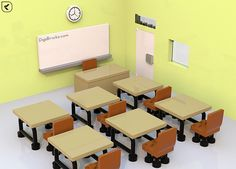 Yes, a classroom is the place for learning! Even though learning could be anywhere. I created an LEGO interior scene of classroom, this model is at minifi...
