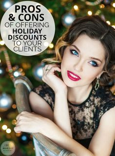 Discover the pros and cons of offering holiday discounts to your makeup clients, and make the right choice this December! #QCMakeupAcademy #makeup #makeupartist #holidaymakeup #makeupdiscounts #makeupbusiness #learnmakeup #makeupschool #onlinemakeupcourses