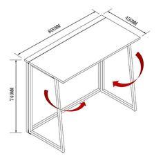 Compact Flip-Flop Folding Computer Desk Home Office Laptop Desktop Tab – DaAl's Computer Workstation Desk, Folding Computer Desk, Computer Desk Chair, Laptop Table, Printer Shelf, Desk Dimensions, Folding Furniture, Table Furniture, Mesh Office Chair