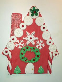 Christmas Gingerbread House cake Topper. approx. 7 inches tall