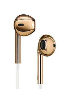 Solid rose gold Apple EarPods. Apple Inc. chief designer Jonathan Ive and industrial designer Marc Newson are collaborating with rocker Bono. They're producing 40 original designs to benefit The Global Fund.