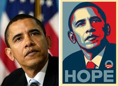 In April Garcia took the photograph of Barack Obama that was later used uncredited by artist Shepard Fairey as the basis of Fairey's Barack Obama HOPE poster. Barack Obama, Shepard Fairey Obama, Obama Images, Hope Images, Obama Poster, Milton Glaser, Andre The Giant, Famous Artwork, Copyright Infringement