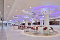 Rzeszów City Center, Shopping Mall, Food Court Area, Interior, Ceiling Design, Siiting Area, Rzeszów-Poland