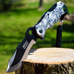 """8"""" M-TECH SPRING ASSISTED OPEN Blade Tactical FOLDING POCKET KNIFE Bowie Switch in Collectibles, Knives, Swords & Blades, Folding Knives 