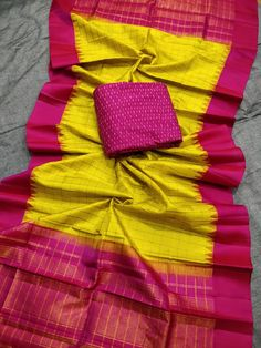 Gadwal pattu dhupata with ikkath sico top Satin Saree, Wedding Silk Saree, Cotton Saree, Half Saree Lehenga, Kids Lehenga, Saree Draping Styles, Saree Blouse Neck Designs, Elegant Fashion Wear, Classy Outfits
