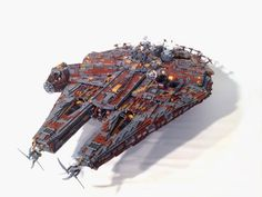 Lego Star Wars Fan site From Bricks to Bothans recently held a contest that tasked users with picking vehicles and starships from the Star Wars universe and re-imagining them as Steampunk Lego creations - and the results were pretty goddamn magnificent. Star Wars Books, Star Wars Art, Lego Star Wars, Star Trek, Lego Robot, Lego Moc, Legos, Lego Millenium Falcon, Steampunk Lego