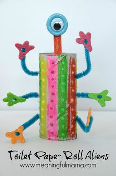 Toilet Paper Roll Craft Aliens Kids May 21, 2014, 1-35 PM