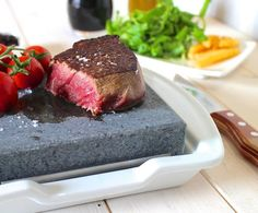 Steak Stone and Plate Set by Black Rock Grill