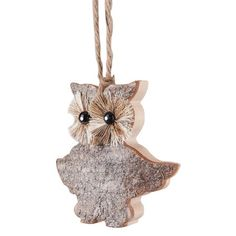 The Holiday Aisle Glitter Birch Bark Owl Hanging Figurine Ornament Christmas Tree Candles, Christmas Ornament Sets, Christmas Tree Toppers, House Ornaments, Bird Ornaments, Hanging Ornaments, Pineapple Ornament, Potted Lavender, Snowflake Wreath