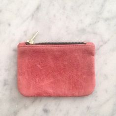 AMERICAN APPAREL American Apparel Leather Coin Purse | Size M   Dark red | Distressed leather | Zipper pouch | Marked M but very small - see size in listing  | Can be used as a coin purse or even to store receipts, small makeup accessories etc.   In excellent condition, hardly ever used American Apparel Bags Cosmetic Bags & Cases