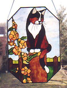 Cat on a garden post