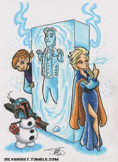 The Carbonite never bothered me anyway... #StarWars #Frozen #geeklove << Lurv!!