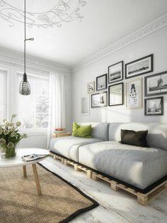 fauteuil en palette, salon moderne, canape en palette, salon intérieur moderne