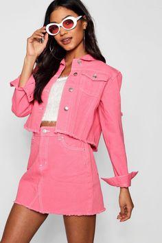 75cd2fdbcc 13 Best Pink Denim Jacket images | Pink denim jacket, Denim jackets ...