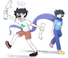 "People look at this and think ""oh that's so cute. It's a boy growing up"" but what they don't realize is to grow up this boy went trough hell and back died 3 times watched his friends die then watched his father die... All I can say to this is ""let me tell you about homestuck"""