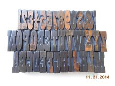 Antique Letterpress Wood Type Matching A to Z Alphabet A Marked 1 1 4 Inch | eBay