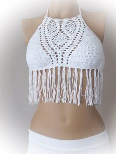 Beige Crochet bikini-summer women clothing-swimwear by RoseClef