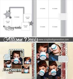 Free Allison Davis two-page sketch. To download the full sketch with measurements and placements, follow the link.   scrapbook   scrapbooking   scrapbooker   scrapbook sketch   two-page sketch   8 photos   eight photos   memory keeping   papercrafting   scrapbook generation