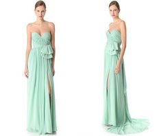 long bridesmaid dress, mint bridesmaid dress, chiffon bridesmaid dress, cheap bridesmaid dress, strapless bridesmaid dress, E213 · lovebridal · Online Store Powered by Storenvy Color Swatches, Fabric Swatches, Mint Bridesmaid Dresses, Elastic Satin, Short Dresses, Formal Dresses, I Dress, Dress Making, Strapless Dress Formal