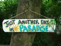 I want this sign!! painted pool signs | Tropical Pool Patio Tiki Bar Parrothead Sign by FRANSCOUNTRYNY