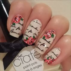 "1,748 Likes, 6 Comments - Nail Art Videos (@nailsartvid_s) on Instagram: ""Love Letter Nails by @chicnail_boutique! 💅🌹✉"""