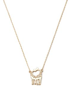 Giraffe Charm Necklace - Accessories - Necklaces - 1000172834 - Forever 21 UK