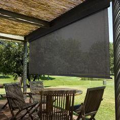 Outdoor Sun Shade, Patio Shade, Pergola Shade, Pergola Patio, Pergola Plans, Backyard Patio, Pergola Ideas, Patio Roof, Patio Wall