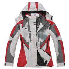spyder jacket | Spyder Ski Jackets Womens White/Red [SpyderWomensSkiJackets009] - $87 ...