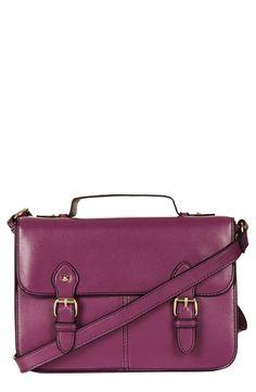 Topshop Satchel.    Perfect color for the purplepurse campaign. Visit purplepurse.com for more info!
