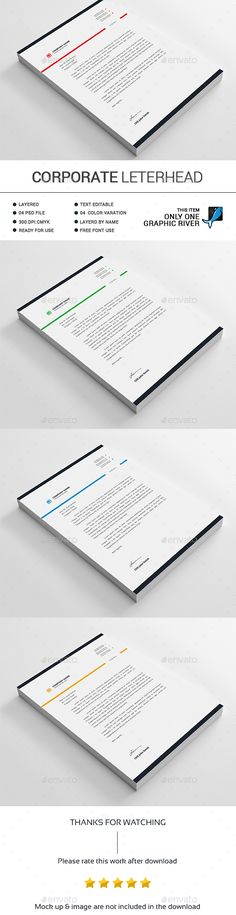 Letterhead Stationery printing, Print templates and Template - free business letterhead templates download