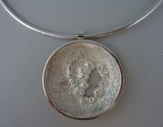 Pendant, Art clay silver, reticulated silver, constructed, Anita Braat-Hopstaken, Passions Jewellery Design