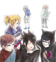 sands and sasuke >< temari, gaara, sasuke, kankuro