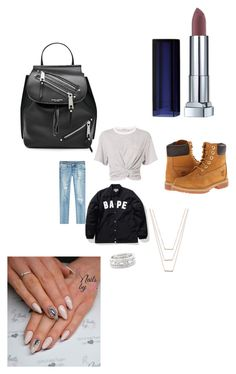 """""""Untitled #3452"""" by fashionicon67 ❤ liked on Polyvore featuring A BATHING APE, Timberland, True Religion, T By Alexander Wang, ERTH, Maybelline, Sole Society and Marc Jacobs"""