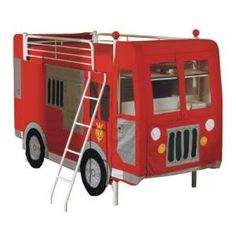 fireman boys firetruck bunk bed curtains set loft furniture kids
