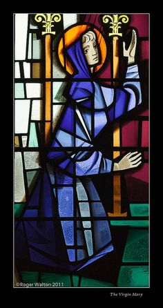 The Virgin Mary The Annunciation: All Saints, Appleton Roebuck - by Harry Harvey Mosaic Glass, Stained Glass, Source Of Inspiration, All Saints, Cathedrals, Virgin Mary, Figurative, Mosaics, Spaces