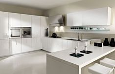 Cómo decorar cocinas blancas