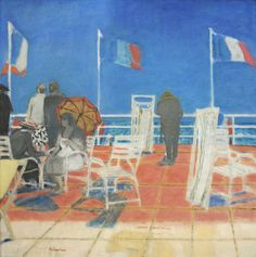 """amare-habeo: """" Maurice Brianchon (French, 1899-1979) Menton, 1959 Oil on Canvas """""""