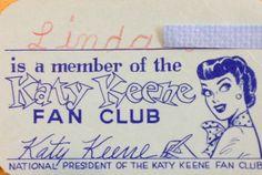 Katy Keene Fan Club 1960's