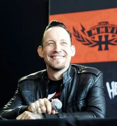 Great pic of Michael. Such an adorably rockin guy. #volbeat #thepoulsenator
