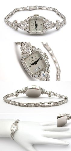 Previously owned estate & antique ladies watches. Bijoux Art Deco, Art Deco Jewelry, Cute Jewelry, Modern Jewelry, Bridal Jewelry, Vintage Jewelry, Gold Jewellery, Mens Dress Watches, Watches For Men